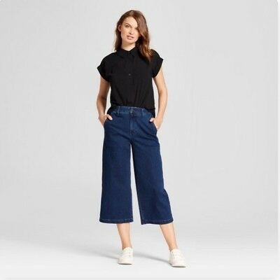 A New Day Women's High Rise Denim Wide Leg Crop Jeans/Pants Variety of Sizes