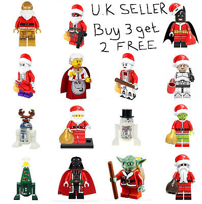 Christmas Minifigure Superhero Star Wars Marvel DC Film Mini Figure X-Mas Xmas