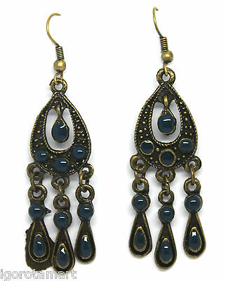 New Zinc Alloy Hook Antique Bronze   Vintage  Style Ear Stud Dangling Earrings