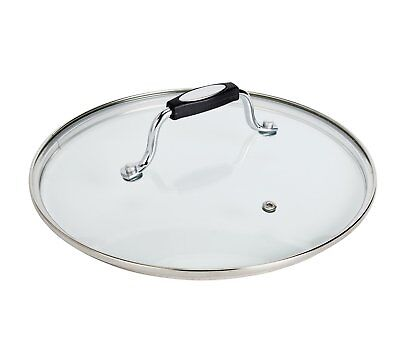 TOUGHENED GLASS Spare Replacement VENTED PAN LIDS Saucepan Frying Wok Casserole
