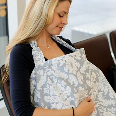 Mom Breast feeding Nursing Cover-Full Coverage, 100% Breathable Soft Cotton GN