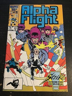 Alpha Flight#43 Incredible Condition 9.4(1986) Sentinels In Canada, Ross Art!!
