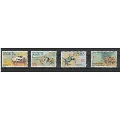 Grenadines Of St Vincent 1977 Crustaceans 4 V Mnh Mf54005