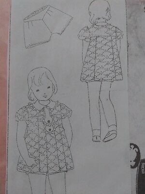 Antique Sewing Pattern-Girl's Dress #746 DuBarry