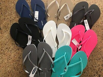 Old Navy Womens Flip Flops Assorted Colors & Sizes Brand New Sizes 6,7,8,10