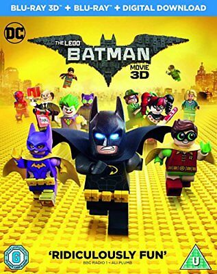 The LEGO Batman Movie [Blu-ray 3D + Blu-ray + Digital Download] [2017] [DVD]