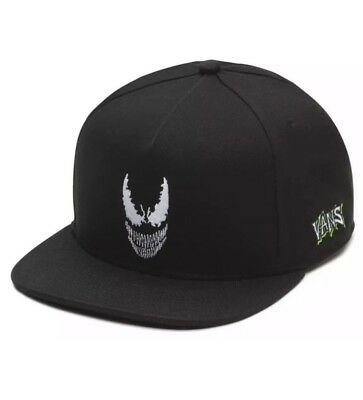 Vans Off The Wall  X Marvel Snapback Hat Black Venom One Size Fits All Unisex