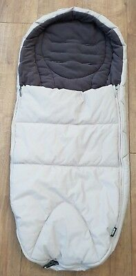 Mamas and Papas beige footmuff pram buggy pushchair fleece lined cosytoes winter