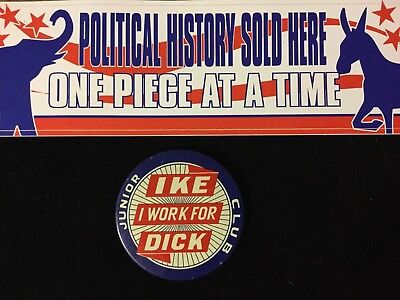 I Work For Ike-Dick Junior Club Inch Button