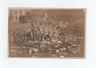 Guernsey,  Bramley Rp Postcard, Funeral Of Governor 1911