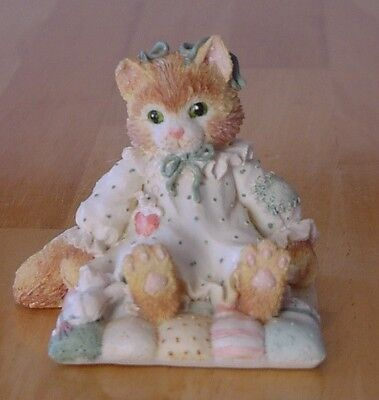 """CALICO KITTENS """"You'll Always be Close to My Heart"""" Cat on Quilt"""