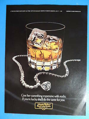 1981 Johnnie Walker Black Label Scotch- (Something Expense With Rocks) Photo Ad