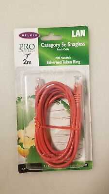 Belkin Pro 10/' 3m Category 5e Patch Cable RJ45 Male//Male Ethernet Token Ring