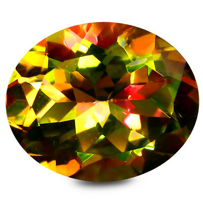 5.55 Ct AAA+ Grand Style Forme Ovale (12 10 mm) Multicolore Stellaire Topaze