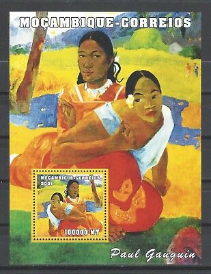 Mozambique 2001 Sc#1507  Painting By Gaugin-'When Will You Marry?' MNH S/S $8.25