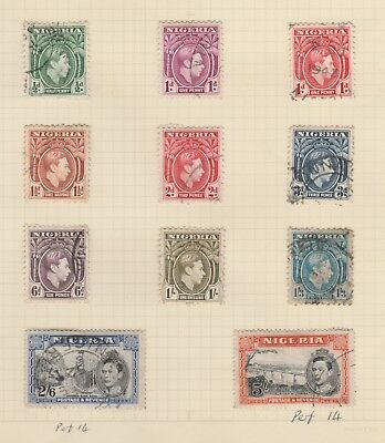 Stamps - Nigeria - GVI - with marked perforation varieties - Used