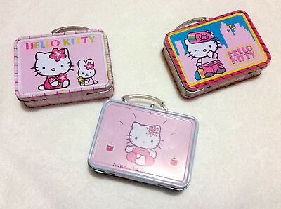 Sanrio Hello Kitty MINI TIN Collectible Boxes, Set of 3, 2.5 x 1 x 3.25""