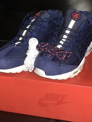 buy online 96419 17e43 Nike Air Max 95 Blue Stussy Size 10 Authentic 9 10 Condition