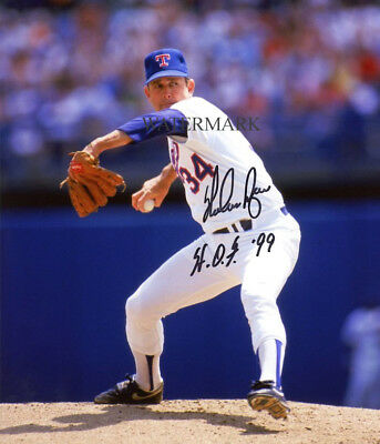 NOLAN RYAN SIGNED TEXAS RANGERS HALL OF FAME 8x10 REPRINT PHOTO RP
