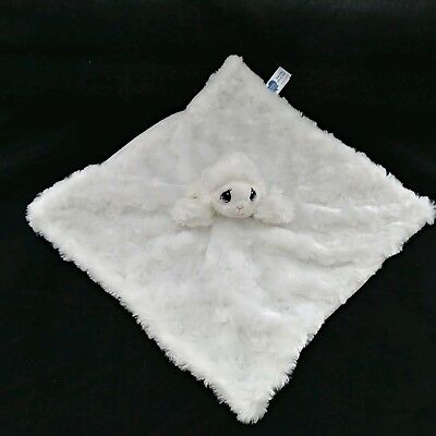Precious Moments White Lamb Plush Puppet Lovey Security Blanket Swirl Fur 13""