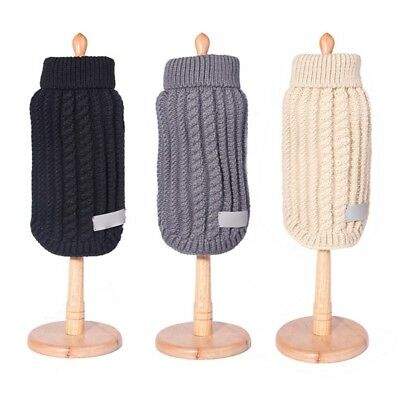 Pet Dog Knitted Jumper Winter Sweater Warm Coat Jacket Puppy Knitwear Clothes US