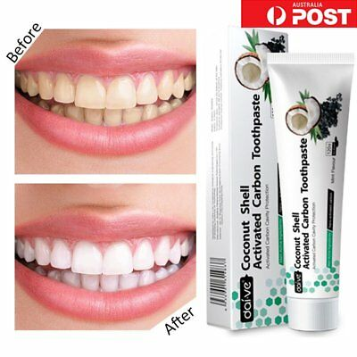 Coconut Activated Charcoal Powder Natural Tooth Teeth Whitening Toothpaste BU