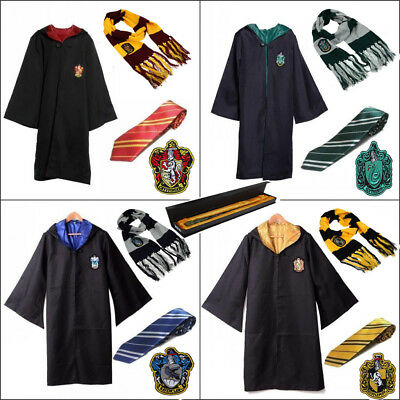 Harry Potter Cloak Robe Tie Sweater Gryffindor/Slytherin/Hufflepuff/Ravenclaw
