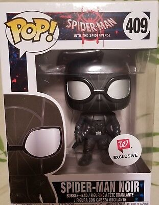 NEW Funko Pop! Marvel Spider-Man Noir #409 Vinyl Figure Walgreens Exclusive HTF