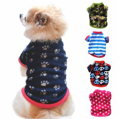 Small Pet Dog Fleece Vest Warm Shirt Coat Puppy Sweater Winter Apparel Clothes
