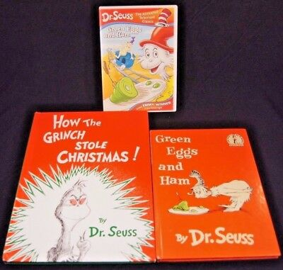 Dr Suess Green Eggs and Ham, How the Grinch Stole Christmas! + BONUS DVD Classic