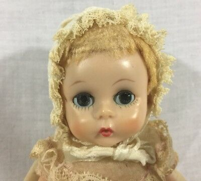 "Vintage 1950s Madame Alexander Little Genius Doll 7"" Vinyl Tagged Clothes"