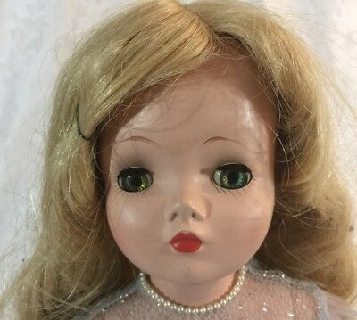 "Vintage 1950s CISSY Madame Alexander 20""  Bridesmaid Doll Tagged Hard Plastic"