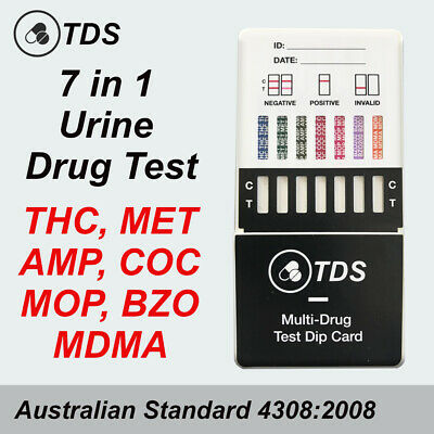 5 x Urine Drug Test 7in1 - THC, METH, COC, AMP + More Drug Tests