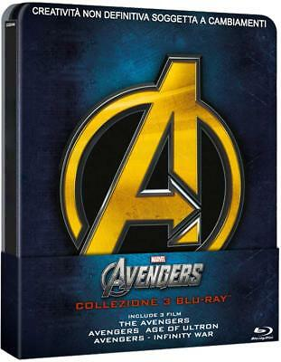 Cofanetto Bluray - Avengers Trilogia Steelbook Ltd Edition (3 Bluray) Nuovo!!