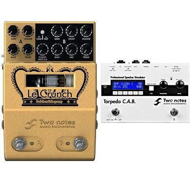 Two Notes Audio Engineering LeCrunch Preamp +Torpedo CAB Speaker Simulator Pedal