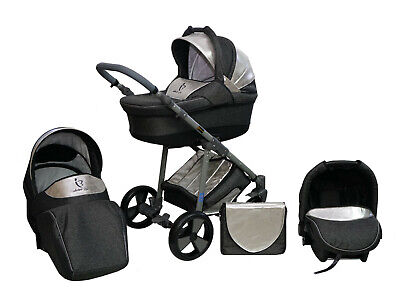 Baby Stroller Pram Complete 3in1 Travel System Pushchair Buggy Carrycot Car seat