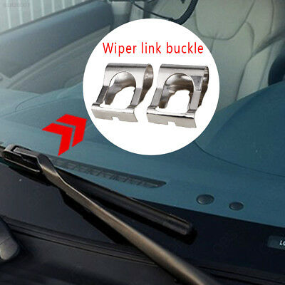 B521 Stainless Steel Silver Linkage Arm Windshield Wiper Clip Car Windscreen