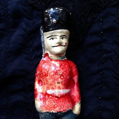 RARE ANTIQUE FRENCH PAPIER MACHE SOLDIER DOLL TOY FIGURE 19th CENTURY