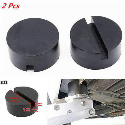 2x Car Universal Floor Jack Disk Rubber Pad Adapter Pinch Weld Side JACKPAD Tool