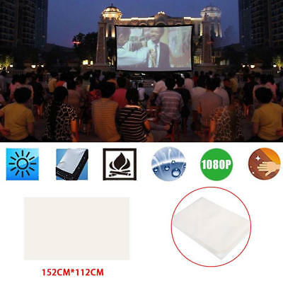 39F8 White 4:3 Projector Curtain Projection Screen Movie Screen