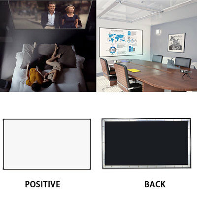 E21E 16:9 100 Inch Projector Curtain Projection Screen Church Lobbies Courtyard