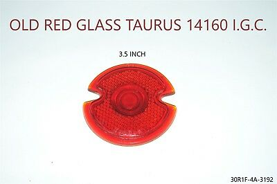 Red GLASS Lens tail stop light cover vintage old antique 1930'S 1920'S 1940'S