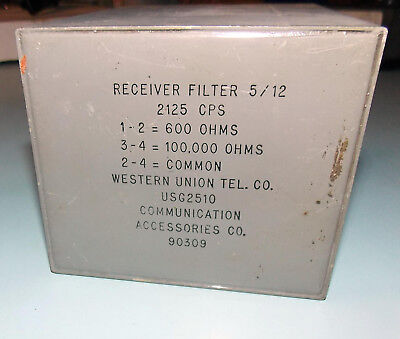 1912 Western Union Telegraph Receiver Filter Extremely Rare 90309