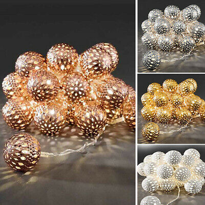 Mini Moroccan Ball String Lights 10 LED Battery Operated Fairy Lights Decoration