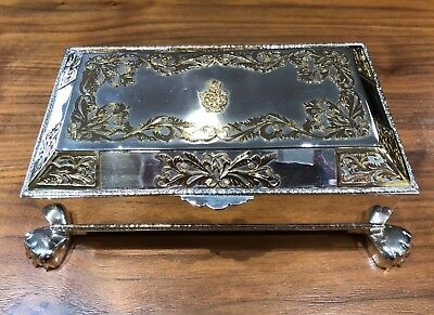 Antique Fine Silver & Pure Gold Cigar Box - Commissioned By Haile Selassie I