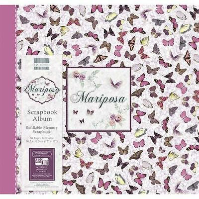 "Mariposa Scrapbook Craft Memory Book Photo Snapload Album 12x12"" - Butterflies"