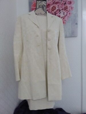 Beautiful Equation Cream Dress and Coat, Wedding Guest,  Mother of Bride,  UK 12