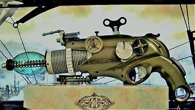 Steampunk Fantasy Ray Gun Space Pistol Prop Cosplay Crafted Art