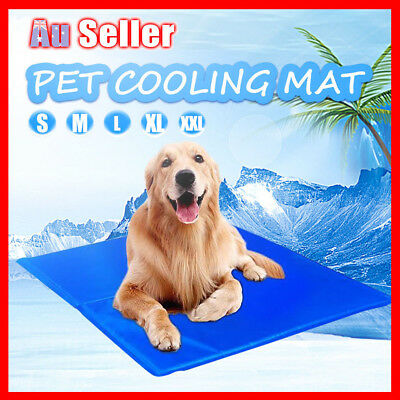 5 Sizes Bed Gel Mat Non-Toxic Dog Cat Cool Cooling Summer Bed Pad Large XXL