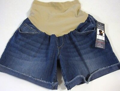 Oh Baby Maternity Shorts Size S Blue Jean Frayed Cuff  Retail $40 NEW